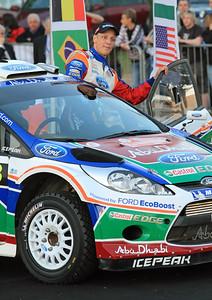 Miko Hirvonen, Ford Fiesta RS WRC, Ceremonial Start, Olbia.
