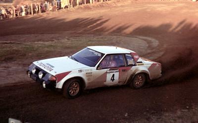 Bjorn Waldegard, Toyota Celica (rally winner).