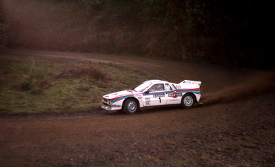 Walter Rohrl, Lancia Rally, SS10 (26 June).