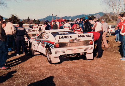 Lancia Rally service, 26th June, near Opotiki.