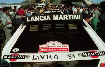 Lancia Delta S4's, scrutineering, Auckland.