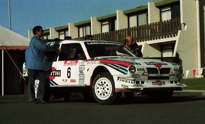 Lancia Delta S4, Mikael Eriksson, Scrutineering, Auckland.