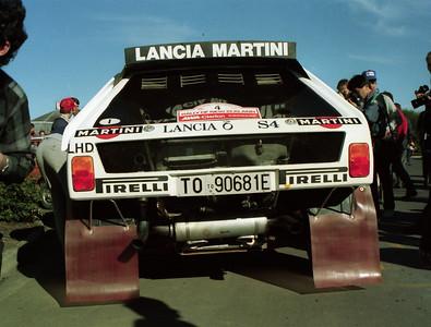 Lancia Delta S4, Masimo Biasion, scrutineering, Auckland.