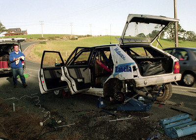 Carlos Menen Jnr, post crash SS2, Riverhead forest.