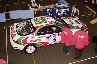 Toyota Celica, scrutineering.