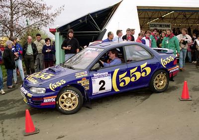 Subaru Impreza (Colin McRae) scrutineering.