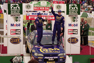 Colin McRae, rally winner.