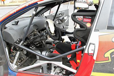 Interior of Petter Solberg's Citroen C4 WRC.