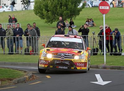 Petter Solberg, Citroen C4 WRC, Shakedown, Auckland Domain.