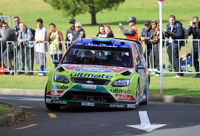 Jari-Matti Latvala, Ford Focus RS WRC 09, Shakedown, Auckland Domain.