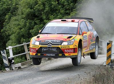 Petter Solberg, Citroen C4 WRC, SS2 Brooks 1.
