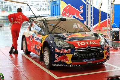 Miko Hirvonen, Citroen DS3 WRC, Service Park.