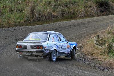 Andy Martin, Mazda RX3, SS2 Gooseneck.