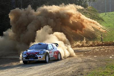Mikko Hirvonen, Citroen DS3 WRC, SS14 Valla.