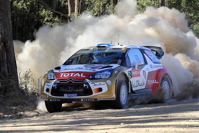 Mikko Hirvonen, Citroen DS3 WRC, Shakedown.