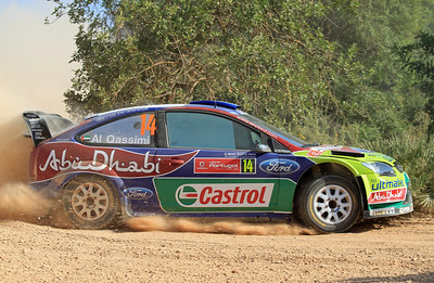 Khalid Al-Qassimi, Ford Focus RS WRC 09, Shakedown.