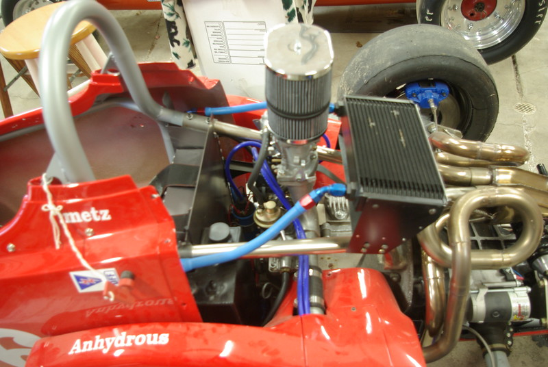 Large  oil cooler, and has 44 IDF weber carb.