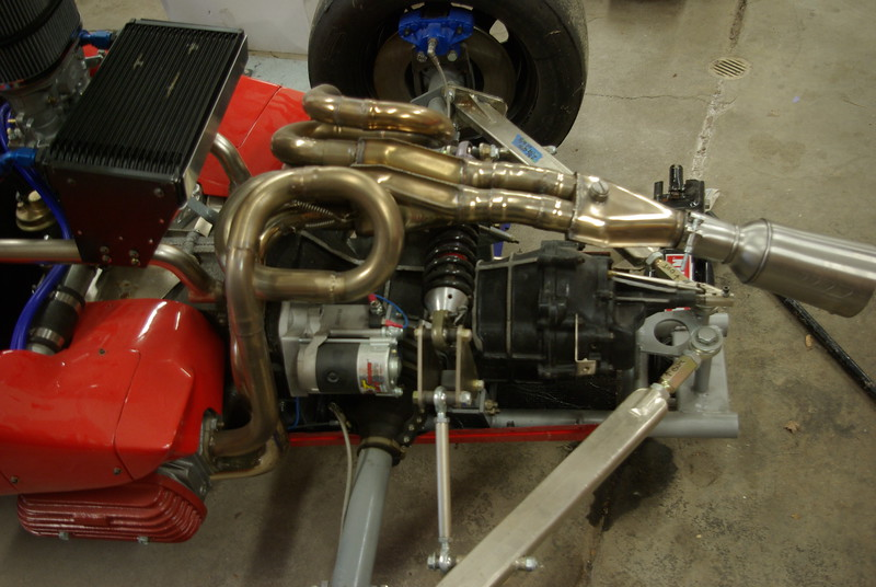 high torque starter for Dunlap Solo Vee, and stainless exhaust