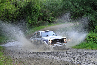 Geoff Portman, Ford Escort RS1800, SS14 Whakarau.