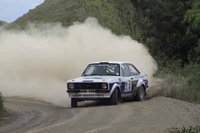 Geoff Portman, Ford Escort RS1800, SS7 Taumata.