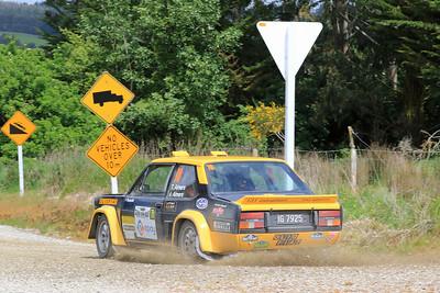 Tony Aimers. Fiat Abarth 131R, SS5 Tuepeka.