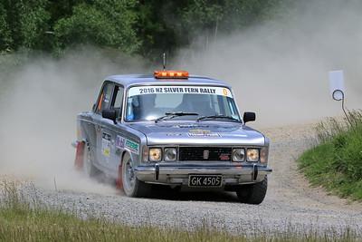 Greg Paul, Fiat 125T (Lead Car), SS04 West.