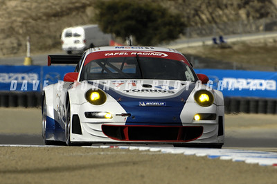 ALMS: The Wolf Henzler – Dominik Farnbarcher Tafel Racing 911 RSR, that finished second in the GT2 results, coming up the hill from Corner 5.  (Image #1DJ5696e)
