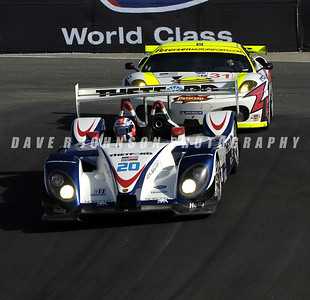 ALMS: The Dyson – Smith RS Spyder ahead of the White Lightning Ferrari at the top of the Corkscrew.  (Image #1DJ6335ecc)