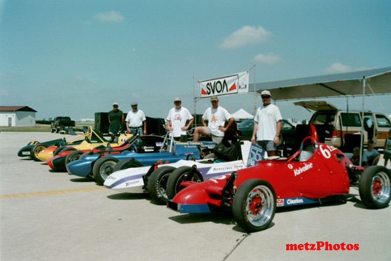 The original group of solo vee drivers gathered at Grissom (Peru) Indiana