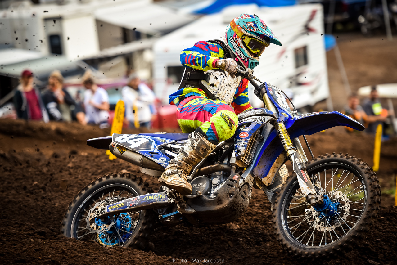 Preston Dickenson looked great on his new Yamaha.