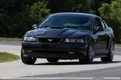 Black 2004 Mustang GT at Waterford Hills Raceway