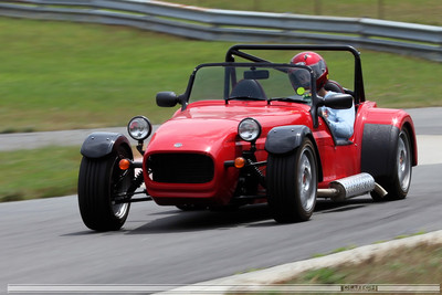 Red Caterham at Waterford Hills Raceway
