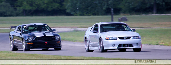 Roush Owners day at Waterford Hills Raceway 2009 - chase out of Swamp Turn