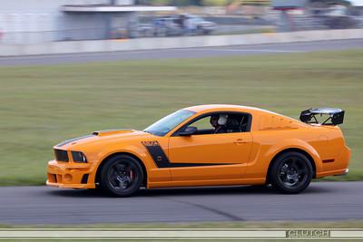 Orange Roush 427R TrakPak at Waterford Hills Raceway: bottom of turn 3