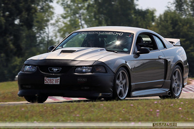 Grey SN-95 Roush Mustang at Waterford Hills Raceway: In the Esses