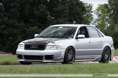 Silver Audi CF Hood at Waterford Hills
