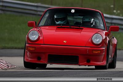 Red Porsche at Waterford Hills