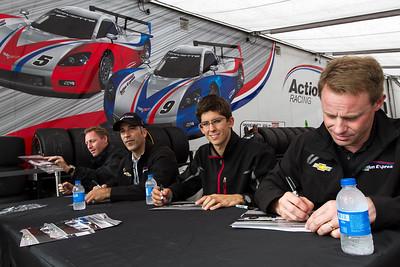 Action Express Racing driver autograph session with Darren Law, Joo Barbosa, Jordan Taylor, and David Donohue