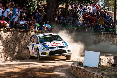 """07.06.2014 - Rally Italia Sardegna 2014 - Special Stage 10 """"Monte Olia"""". Volkswagen Polo R WRC. Latvala / Anttila."""
