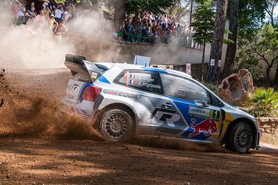 """07.06.2014 - Rally Italia Sardegna 2014 - Special Stage 10 """"Monte Olia"""". Volkswagen Polo R WRC. Ogier / Ingrassia."""