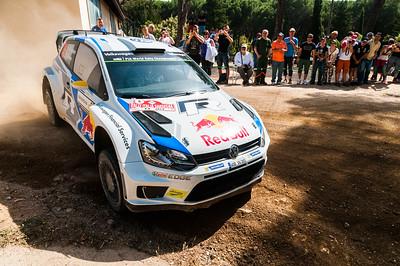 """07.06.2014 - Rally Italia Sardegna 2014 - Special Stage 10 """"Monte Olia"""". Volkswagen Polo R WRC. Mikkelsen / Floene."""