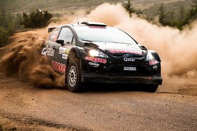"06.06.2014 - Rally Italia Sardegna 2014 - Special Stage 7 ""Terranova Sud"". Al Attiyah / Bernacchini. Ford Fiesta RRC."