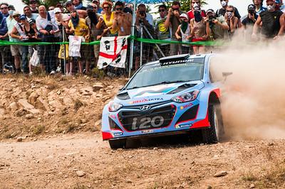 "06.06.2014 - Rally Italia Sardegna 2014 - Special Stage 2 ""Terranova Nord"". Neuville / Gilsoul. Hyundai i20 WRC."