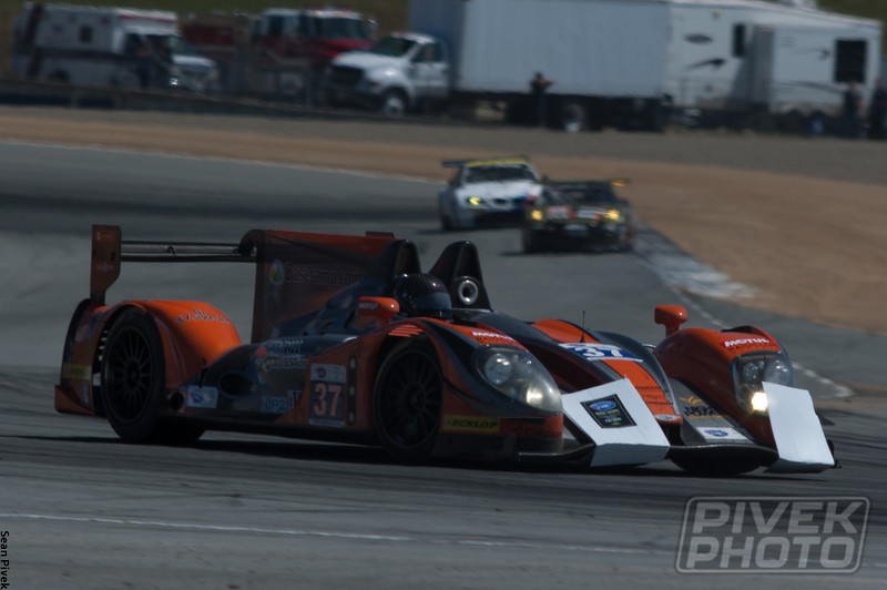 Hansson's Morgan-Nissan still carries the ex-brake markers collected during his incident with Cummings.