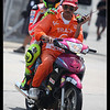 Valentino Rossi taking a ride after he crash out at turn9 at qualifying