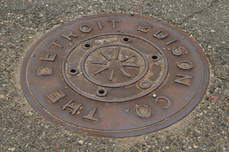 <br> <br> Manhole Cover in Detroit <br> <br>