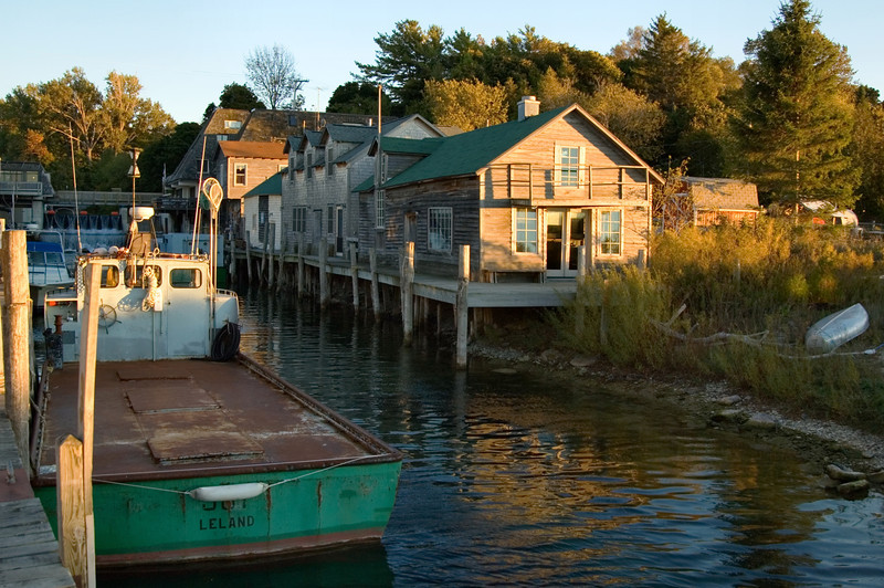 <br> <br> Dock at Fishtown in Leland <br> <br>