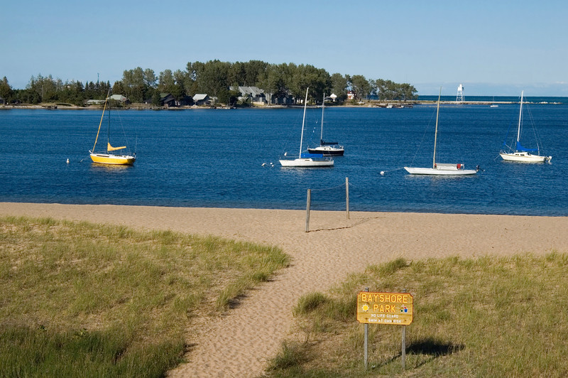 """<br> <br> Grand Marais Bay and Lighthouse <br> <br> buy:<a href=""""http://www.istockphoto.com/stock-photo-2060414-grand-marais.php"""" > digital download</a>"""