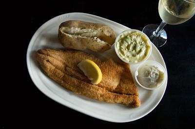 Whitefish Dinner at the Bluebird in Leland