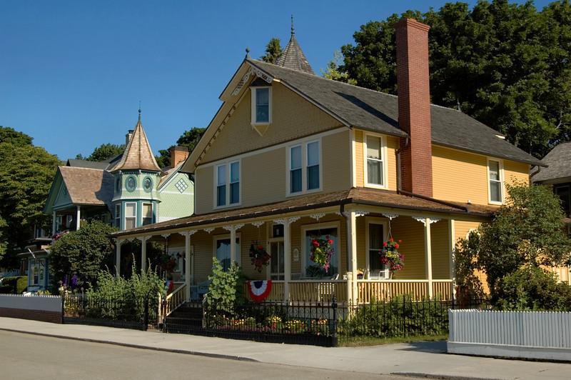<br> <br> Victorian Houses on Mackinac Island <br> <br>